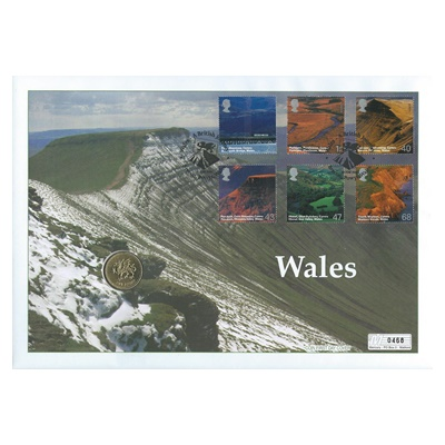 2000 BU £1 Coin - Wales - A British Journey