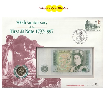 200th Anniversary of the First £1 Note 1797-1997