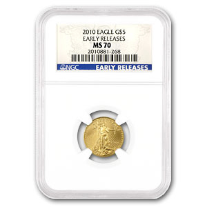 2010 Gold 1/10th oz EAGLE - MS70