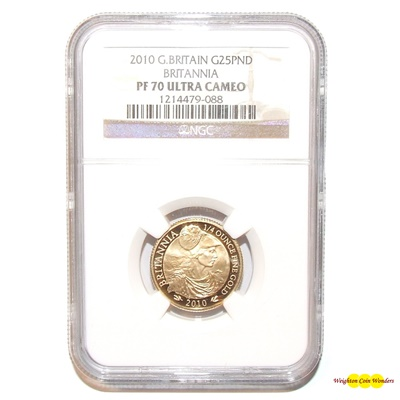 2010 Gold Proof 1/4 oz Britannia - NGC PR70