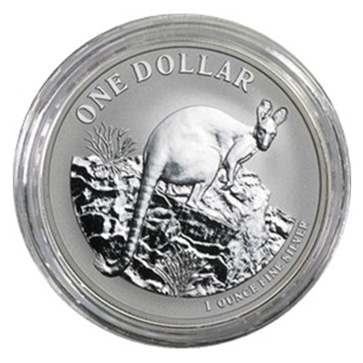 2010 1oz Silver KANGAROO (Display Card)