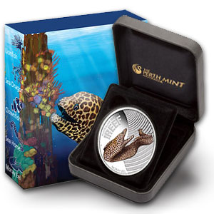2010 1/2oz Silver Proof SEA LIFE I - MORAY EEL