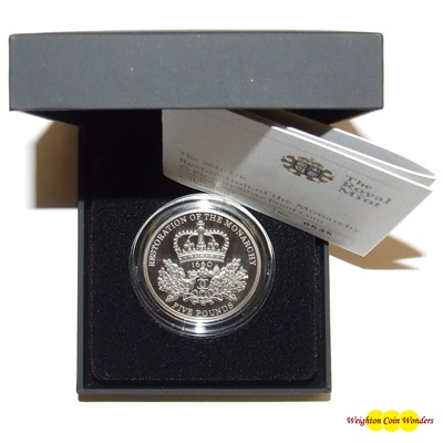 2010 Silver Proof PIEDFORT £5 Crown -Restoration of the Monarchy