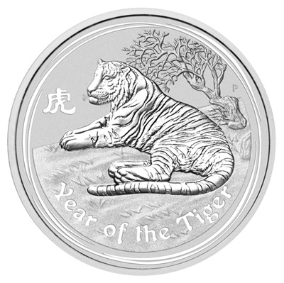 2010 2oz Silver Lunar TIGER - Series II