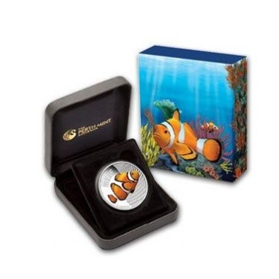 2010 1/2oz Silver Proof SEA LIFE I - CLOWNFISH