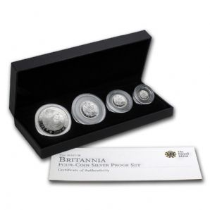 2010 Silver Proof BRITANNIA 4 Coin Set