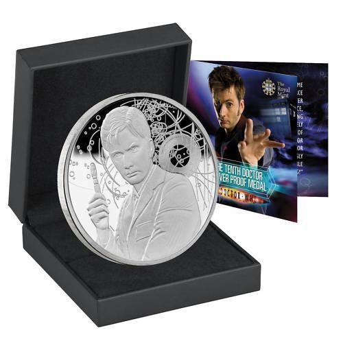 2010 The Tenth Doctor Silver Proof Medal