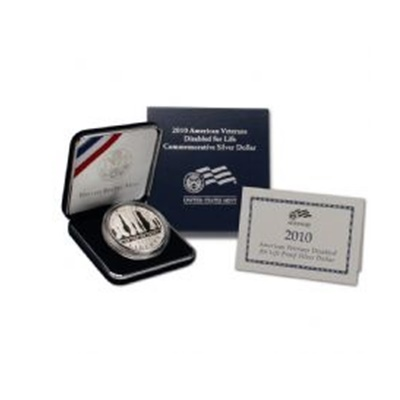 2010 American Vets Disabled for Life Silver Proof $1