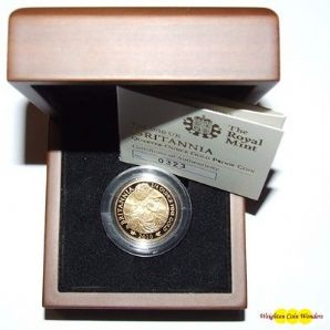 2010 Gold Proof 1/4 oz Britannia - New Design