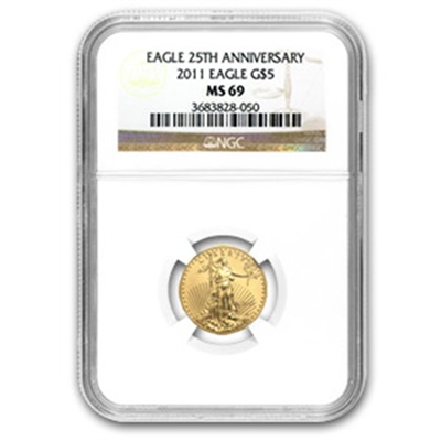 2011 Gold 1/10th oz EAGLE - MS69
