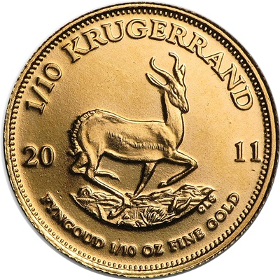 2011 1/10th oz Gold KRUGERRAND