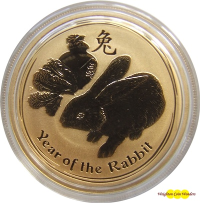 2011 1oz Gold Lunar RABBIT - Series II