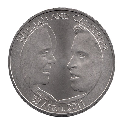 2011 £5 - Official UK Royal Wedding Coin