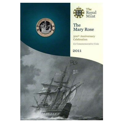 2011 BU £2 Coin Pack - The Mary Rose