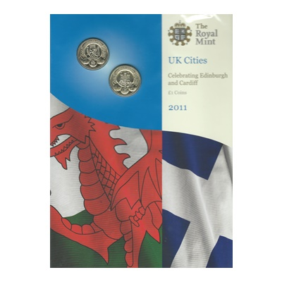 2011 BU £1 Coins - UK Cities (Edinburgh and Cardiff)