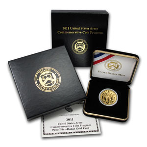 2011-P USA Gold Proof $5 - Army Commemorative