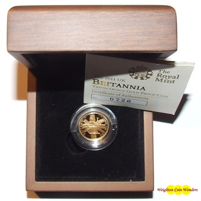 2011 Gold Proof 1/10th oz Britannia