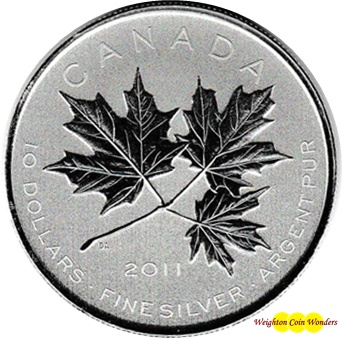 2011 $10 1/2oz Silver Maple Leaf Forever