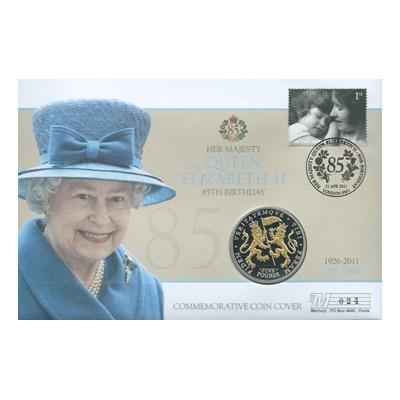 2011 Silver Proof £5 Coin - HM QEII 85th Birthday