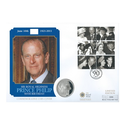 2011 Silver Proof £5 Coin - HRH Prince Philip 90th Birthday