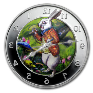 2011 Pitcairn Island $2 1oz Silver Proof - Wonderland Rabbit