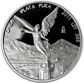 2011 1oz Silver Proof LIBERTAD - In Capsule