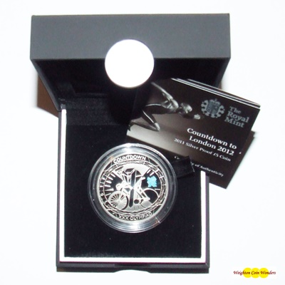 2011 Silver Proof £5 Crown - Countdown to London 2012