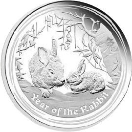 2011 1oz Silver Lunar Rabbit