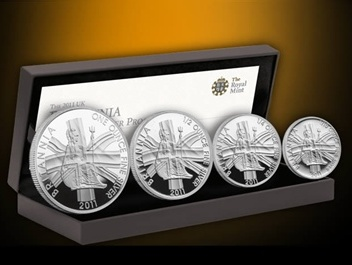 2011 Silver Proof BRITANNIA 4 Coin Set