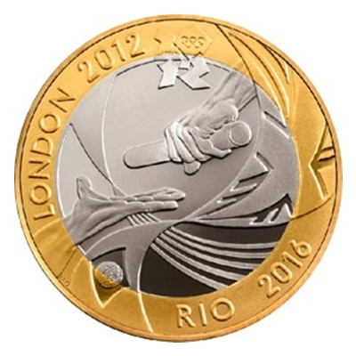 2012 £2 Coin - Olympic Games Handover Ceremony