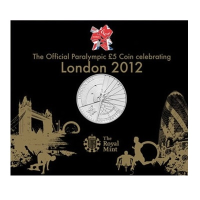 2012 The Official Paralympic £5 Coin Celebrating London 2012