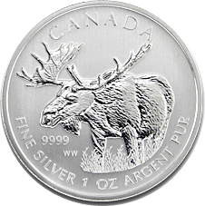 2012 1oz Silver CANADIAN MOOSE