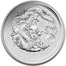 2012 1oz Silver Lunar DRAGON - Lion Privy