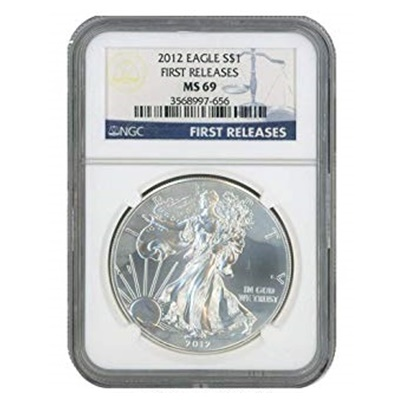 2012 1oz USA Silver Eagle MS-69 NGC - Early Release - Click Image to Close