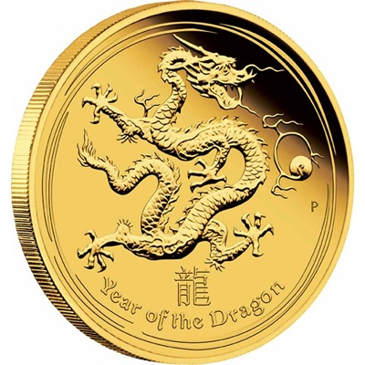 2012 Lunar DRAGON 1/10th oz GOLD PROOF COIN