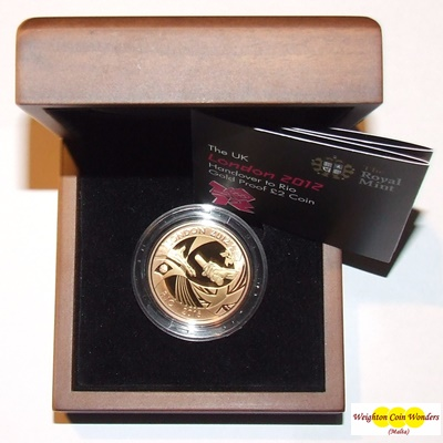 2012 Gold Proof £2 - Handover to Rio