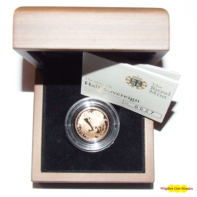 2012 Gold Proof 1/2 SOVEREIGN - NEW DESIGN NOW IN STOCK