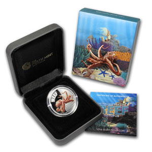 2012 1/2oz Silver Proof SEA LIFE II - OCTOPUS