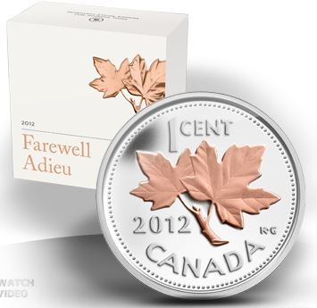 2012 1/2oz Silver Proof - Farewell to the Penny