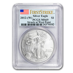 2012 1oz USA Silver Eagle MS-69 PCGS (First Strike)