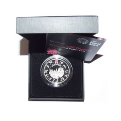 2012 Silver Proof PIEDFORT £5 Crown - Countdown to London 2012