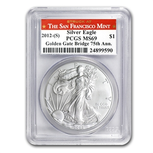 2012s 1 oz USA Silver Eagle MS-69 PCGS 75th Ann