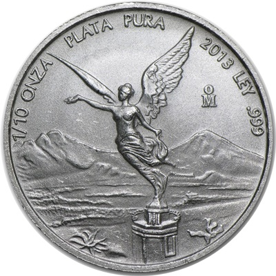 2013 1/10th oz Silver LIBERTAD