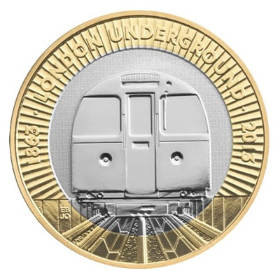 "2013 £2 Coin - London Underground ""The Train"""