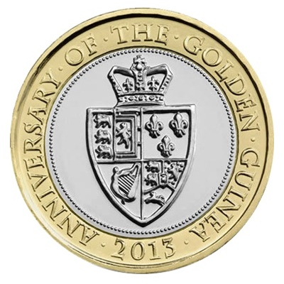 2013 £2 Coin - 350th Anniversary of the Guinea