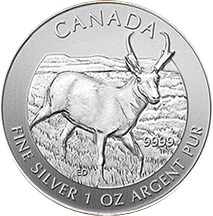 2013 1oz Silver CANADIAN PRONGHORN ANTELOPE