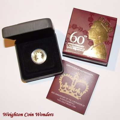 2013 1/4oz Gold Proof Coin - 60th Anniversary of Coronation