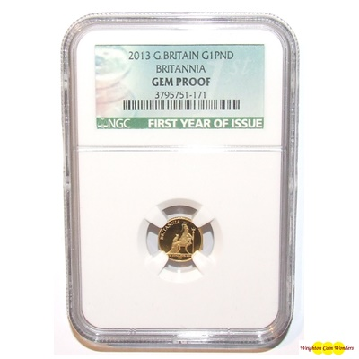 2013 Gold Proof 1/20th Britannia - NGC Gem Proof