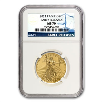 2013 1/2oz Gold EAGLE MS70 - Early Release