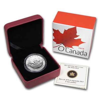 2013 O'Canada 1/2oz Silver Proof - POLAR BEAR